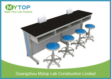 Steel And Wood Physical Laboratory Work Benches / School Lab Working Table