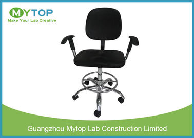 Clean Room ESD Lab Chairs With Five Star Caster and Armrest Adjustable Height