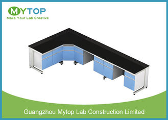 L Shape Modern Laboratory Furniture With MDF Cabinet and Aluminum Handle